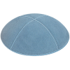 Light Blue Suede Kippah - Solid