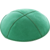 Kelly Green Suede Kippah - Solid