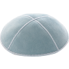 Powder Blue Suede Kippah - Solid