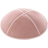 Light Pink Suede Kippah - Solid