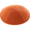 Orange Suede Kippah - Solid