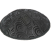 Circles Suede Kippah - Blind Embossed