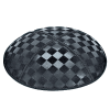 Checkerboard Suede Kippah - Blind Embossed