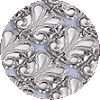 Traditional Square Leaf Buttons Atarah - Made of Silver and Nickel - D-200