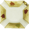 Colorful Square-Shaped Glass Dish with Cut Corners and Appliques