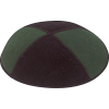 2-Tone Suede Kippah - Wholesale Priced