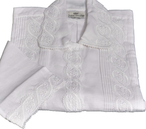 Curly S-Lace Kittel - Permanent-Press Cotton or Linen - 60125