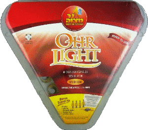 Capped Pre-Filled Natural Liquid Olive Oil Candles - Ohr Lights 44-Pack